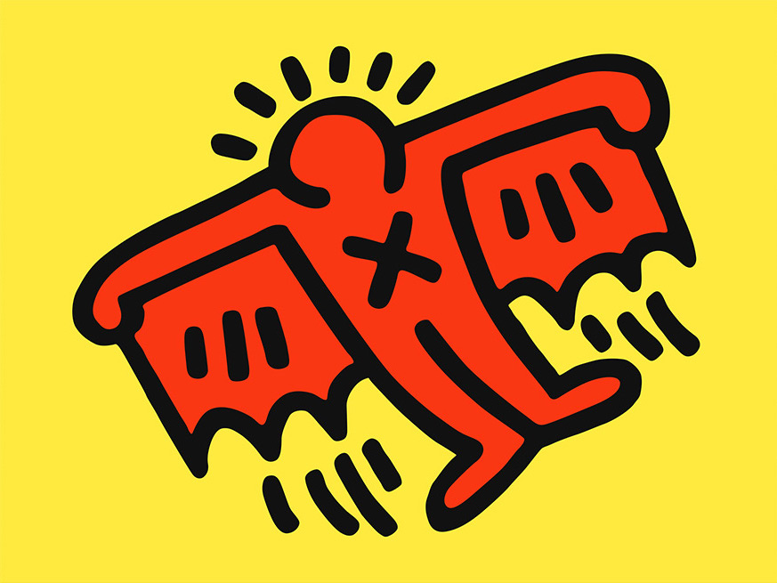Keith Haring, Icons: (D) Flying Devil