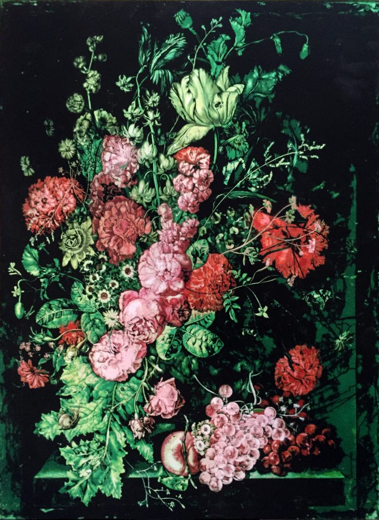 Logan Hicks, A Vase of Flowers II – Homage to Margareta Haverman