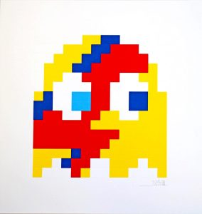 Invader, Aladdin Sane (Yellow)