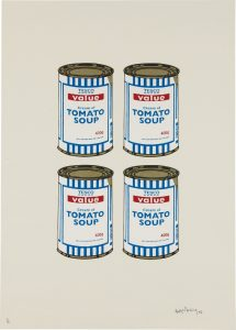 Banksy, Soup Can Quad, Cream Paper