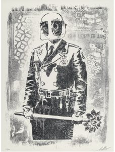 Shepard Fairey, My Florist Is A Dick, Damaged Stencil Series