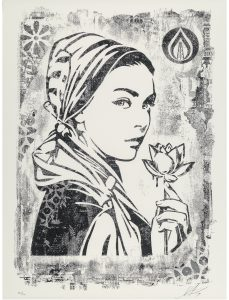 Shepard Fairey, Natural Springs, Damaged Stencil Series