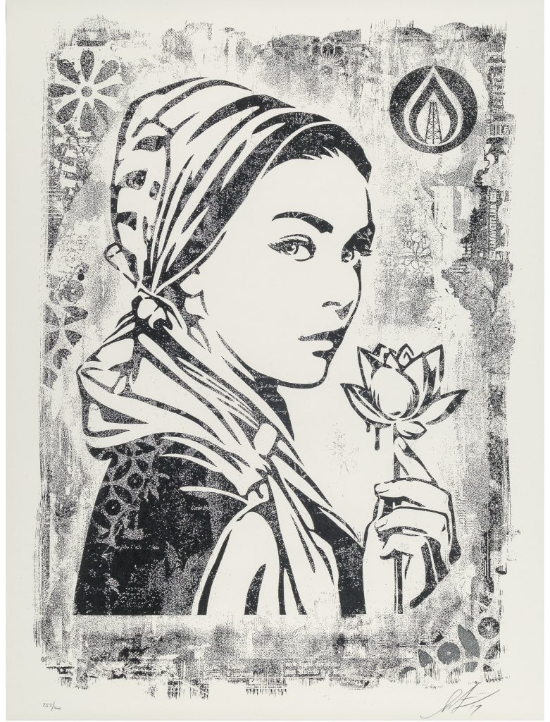 Shepard Fairey, Natural Springs, Damaged Stencil Series