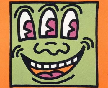 Keith Haring, Three Eyed Man, Icons (E)