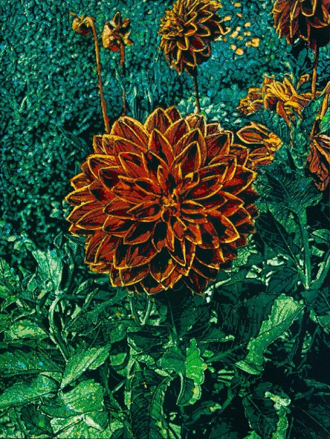 Logan Hicks, Monet Flower Closeup - Flower 1
