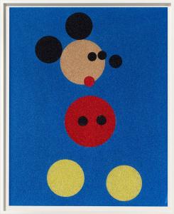 Damien Hirst, Mickey (Blue Glitter)