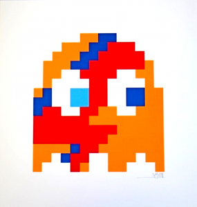 Invader, Aladdin Sane (Orange)