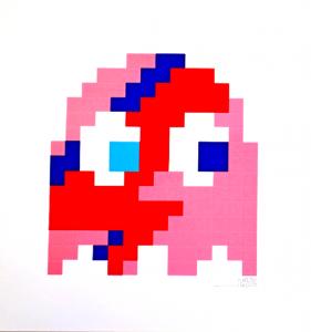 Invader, Aladdin Sane (Pink)