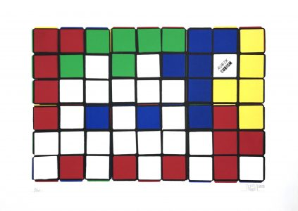 Invader, Rubik - Six Cubes (Blue and Yellow)