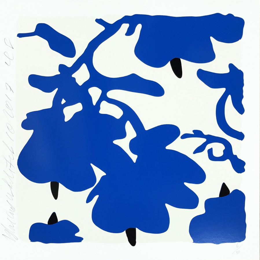 Donald Sultan, Lantern Flowers (Blue)