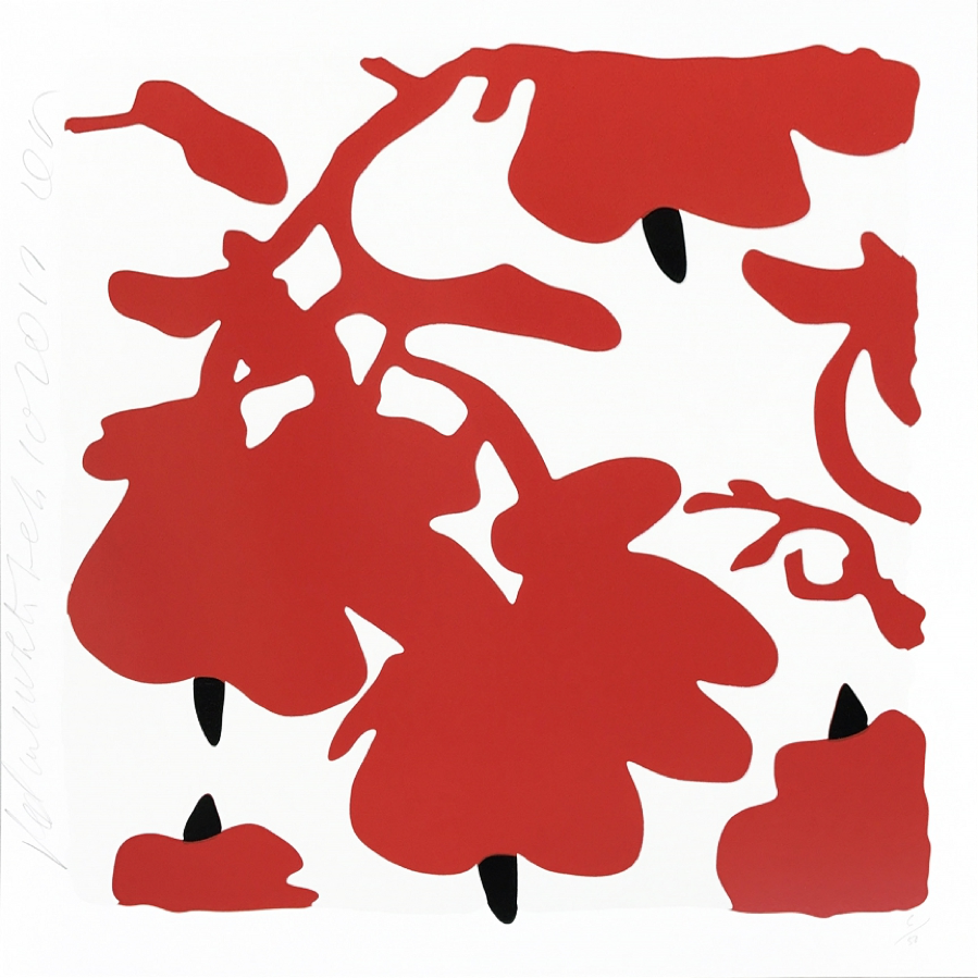 Donald Sultan, Lantern Flowers (Red)