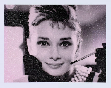 Russell Young, Audrey Hepburn – Storm Pink and Black