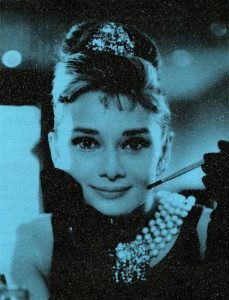 Russell Young, Audrey Hepburn New York Tiffany Blue