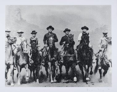 Russell Young, Magnificent Seven - Revolver White and Black