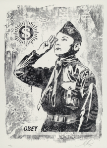 Shepard Fairey, Learn to Obey, Damaged Stencil Series