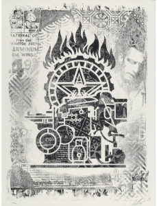 Shepard Fairey, Obey Printing Press, Damaged Stencil Series