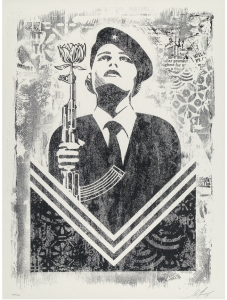 Shepard Fairey, Peace Guard 2, Damaged Stencil Series