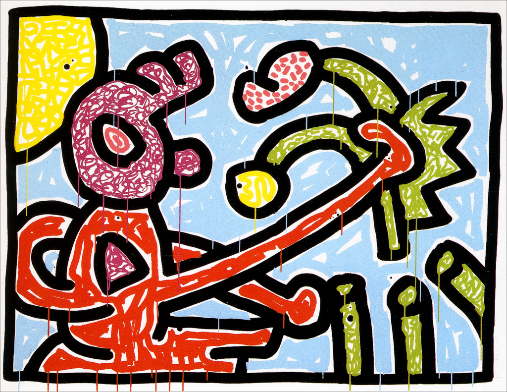 Keith Haring, Flowers I