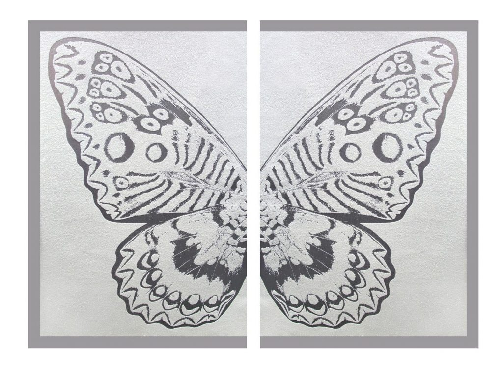 Rubem Robierb, Hybrid Silver Butterfly II on White