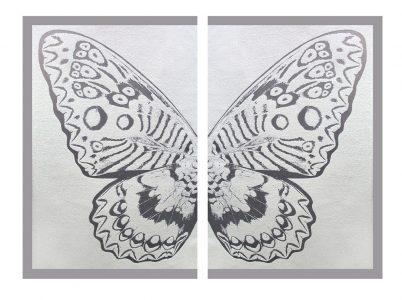Rubem Robierb, Hybrid Silver Butterfly II on White