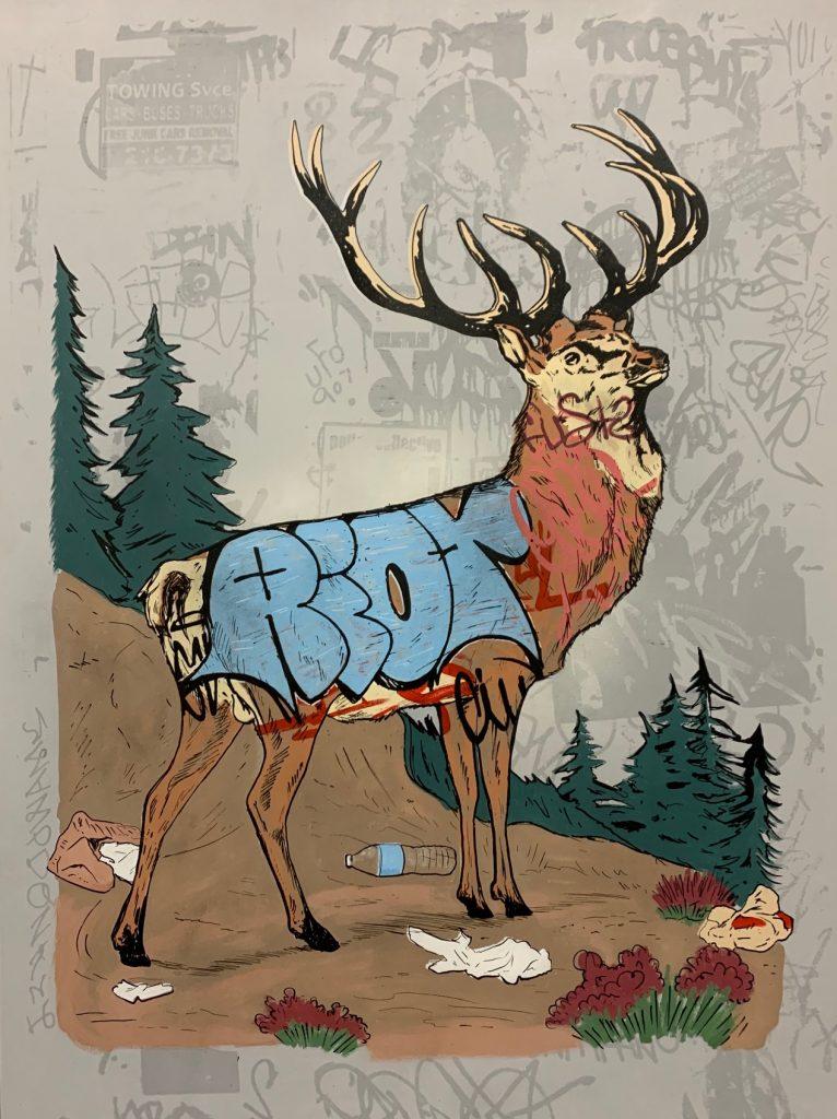 Whatisadam, WIA, Deer Graffiti, 2019