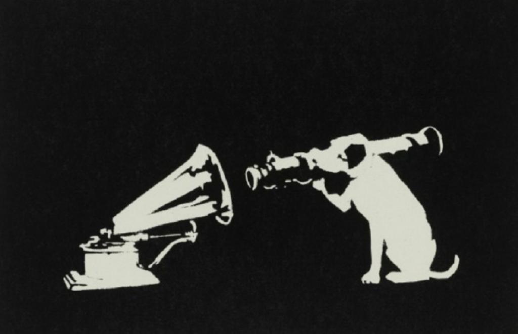 Banksy, His Master's Voice, 2003