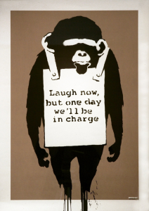 Banksy, Laugh Now, 2003