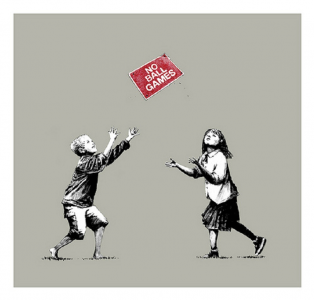 Banksy, No Ball Games, 2009