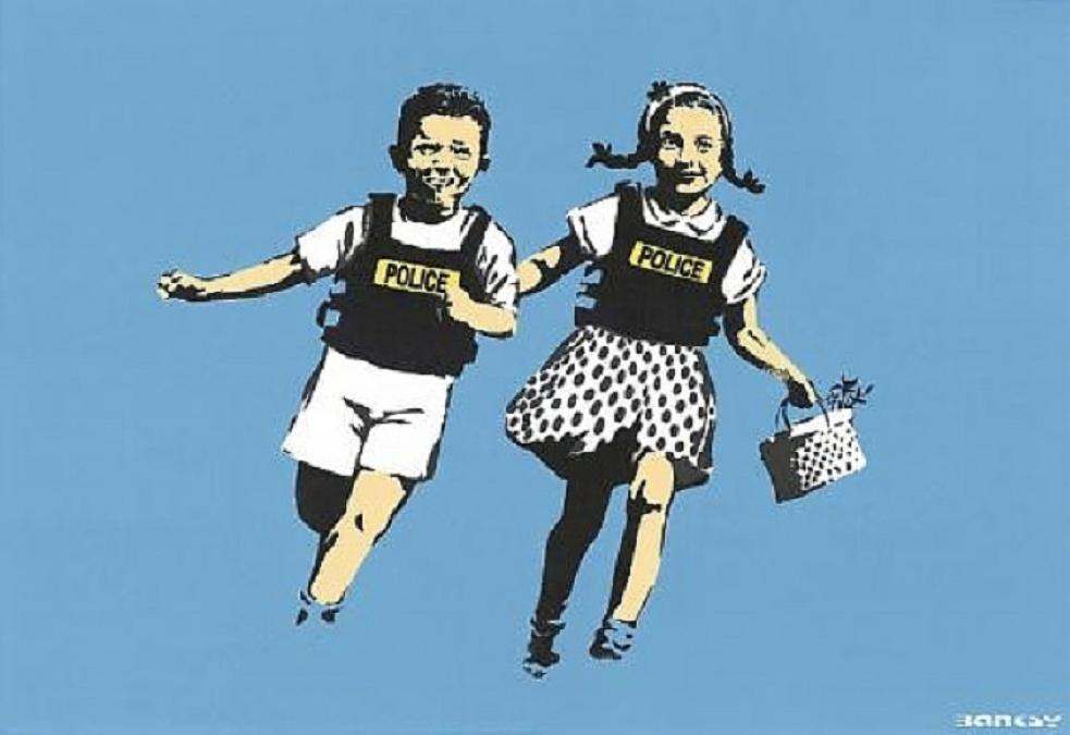 Banksy, Police Kids, 2005