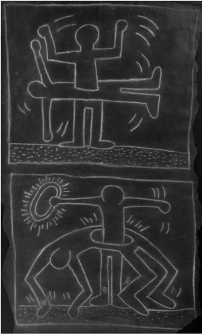 Keith Haring, Untitled (Two Figures and a Halo), 1980-82