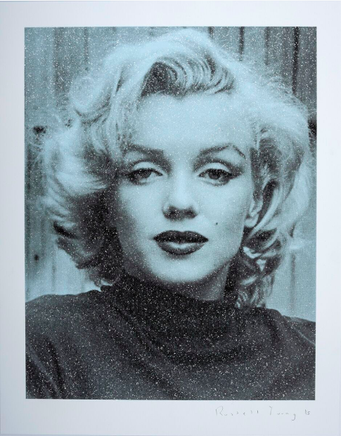 Russell Young, Marilyn Hollywood (Blue), 2019